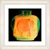 Studio Works Modern Orange Elephant Urn by StudioWorksModern Framed Graphic Art