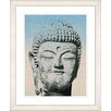 Studio Works Modern Blue Buddha by Zhee Singer Framed Photographic Print