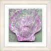 Studio Works Modern 'Sea Shell' by Zhee SInger Framed Painting Print in Pink