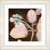 Studio Works Modern 'Marbled Berries' by Zhee Singer Framed Painting Print in Coffee