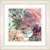 Studio Works Modern Orange Peach Carnation by Zhee Singer Framed Painting Print