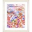 Studio Works Modern Luna Strata by StudioWorksModern Framed Painting Print in Orange Metallic