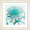 Studio Works Modern Pastel Bonobo Flower by StudioWorksModern Framed Painting Print in Turquoise Blue