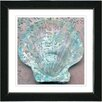 Studio Works Modern Aqua Sea Shell by StudioWorksModern Framed Painting Print