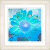 Studio Works Modern Daisy Bloom by StudioWorksModern Framed Painting Print in Turquoise Blue