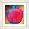 Studio Works Modern Red Elephant Urn by StudioWorksModern Framed Graphic Art