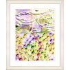 Studio Works Modern 'Luna Strata' by Zhee Singer Framed Painting Print in Yellow