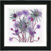Studio Works Modern Highland Spring Flowers by Zhee Singer Framed Painting Print in Purple