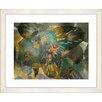 Studio Works Modern 'Duchess Flowers' by Zhee Singer Framed Painting Print in Green/Gold