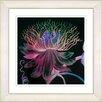 Studio Works Modern Black Bonobo Bell Flower by StudioWorksModern Framed Painting Print in Red