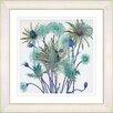 Studio Works Modern 'Highland Spring Flowers' by Zhee Singer Framed Painting Print in Green