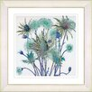 Studio Works Modern Highland Spring Flowers by Zhee Singer Framed Painting Print in Turquoise