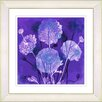 Studio Works Modern Balabosta 'Barcelona Garden' by Zhee Singer Framed Painting Print in Purple