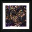 Studio Works Modern Flower Meadow by Zhee Singer Framed Painting Print in Orange