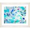 Studio Works Modern Screwed Moves Series II by Zhee Singer Framed Painting Print in Blue