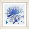 Studio Works Modern Pastel Bonobo Flower by Zhee Singer Framed Painting Print in Blue