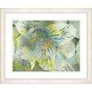 Studio Works Modern 'Honey Flowers Breeze' by Zhee Singer Framed Painting Print in Green