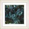Studio Works Modern Flower Meadow by StudioWorksModern Framed Painting Print Turquoise
