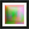 "Studio Works Modern ""Orange Colorfield Fingerprint"" by Zhee Singer Framed Graphic Art"