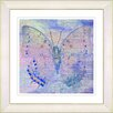 """Studio Works Modern """"Pastel Butterfly"""" by Zhee Singer Framed Giclee Painting Print"""