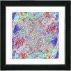 "Studio Works Modern ""Blue Yin Yang Dot Com"" by Zhee Singer Framed Fine Art Giclee Painting Print"