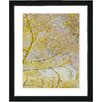 """Studio Works Modern """"Gold Flower Branches"""" by Zhee Singer Framed Graphic Art in Yellow"""