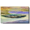 """Studio Works Modern """"Lagoon"""" Gallery Wrapped by Zhee Singer Painting Print on Canvas"""