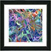 "Studio Works Modern ""Tangle"" by Zhee Singer Framed Fine Art Giclee Painting Print"