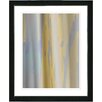 "Studio Works Modern ""Yellow Flow"" by Zhee Singer Framed Fine Art Giclee Painting Print"