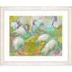 "Studio Works Modern ""White Flocking Flamingos"" by Zhee Singer Framed Fine Art Giclee Painting Print"