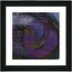 "Studio Works Modern ""Midnight Purple Moon Glow"" by Zhee Singer Framed Fine Art Giclee Painting Print"