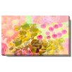 """Studio Works Modern """"Orange Flowers and Berries"""" Gallery Wrapped by Zhee Singer Painting Print on Canvas"""