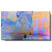 "Studio Works Modern ""Leaf Sunset"" Gallery Wrapped by Zhee Singer Painting Print on Canvas"