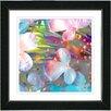 "Studio Works Modern ""Pastel Party Flower"" by Zhee Singer Framed Fine Art Giclee Painting Print"