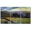 "Studio Works Modern ""Sonoma Meadow"" Gallery Wrapped by Zhee Singer 3 Panel Painting Print on Canvas (Set of 3)"