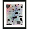 "Studio Works Modern ""Steel Blue Plyos Play"" by Zhee Singer Framed Graphic Art"