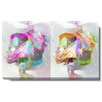 "Studio Works Modern ""Pastel Double Gordian"" by Zhee Singer Graphic Art on Wrapped Canvas"