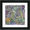 """Studio Works Modern """"Spill"""" by Zhee Singer Framed Fine Art Giclee Painting Print"""