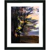 """Studio Works Modern """"Evening Foliage"""" by Zhee Singer Framed Fine Art Giclee Painting Print"""