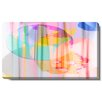 "Studio Works Modern ""Flat Earth Theory"" Gallery Wrapped by Zhee Singer Painting Print on Canvas"