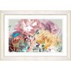 "Studio Works Modern ""Pastel Scented Bloom"" by Zhee Singer Framed Fine Art Giclee Painting Print"