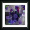 "Studio Works Modern ""Purple Blue Floral Study"" by Zhee Singer Framed Fine Art Giclee Painting Print"