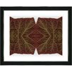 """Studio Works Modern """"Abstract Mosaic Leaf Series - Interplay"""" by Zhee Singer Framed Graphic Art"""