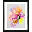 "Studio Works Modern ""Orange Majuli"" by Zhee Singer Framed Fine Art Giclee Painting Print"