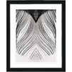 """Studio Works Modern """"White Feather"""" by Zhee Singer Framed Fine Art Giclee Painting Print"""