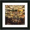 """Studio Works Modern """"Morning in the City"""" by Zhee Singer Framed Fine Art Giclee Painting Print"""