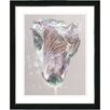"""Studio Works Modern """"Pastel Lilac Autumn Bud"""" by Zhee Singer Framed Fine Art Giclee Painting Print"""
