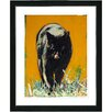 "Studio Works Modern ""Cleo the Cat"" by Zhee Singer Framed Fine Art Giclee Painting Print"