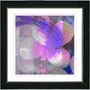 "Studio Works Modern ""Purple Morning Glory"" by Zhee Singer Framed Fine Art Giclee Painting Print"