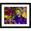 "Studio Works Modern ""Flowers and Berries - Yellow"" by Zhee Singer Framed Fine Art Giclee Painting Print"
